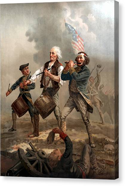 American Flag Canvas Print - The Spirit Of '76 by War Is Hell Store