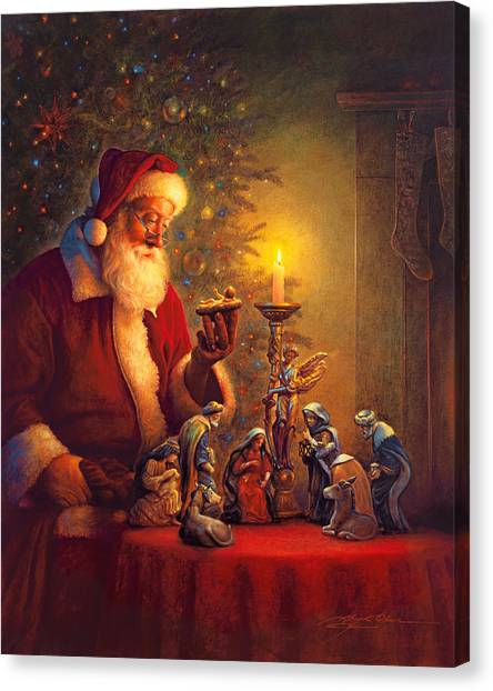 Mary Canvas Print - The Spirit Of Christmas by Greg Olsen