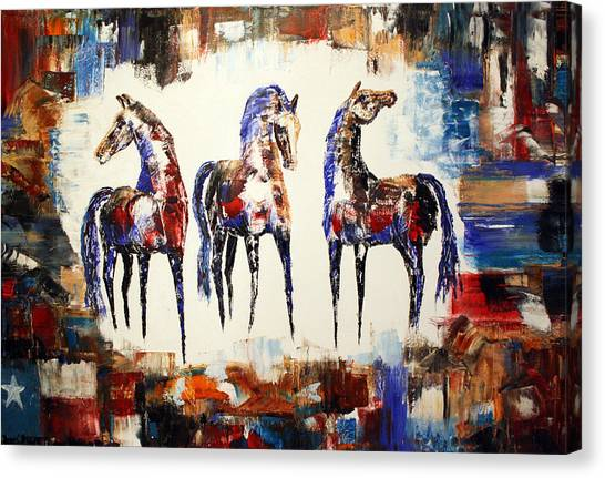 The Spirit Of Texas Horses Canvas Print