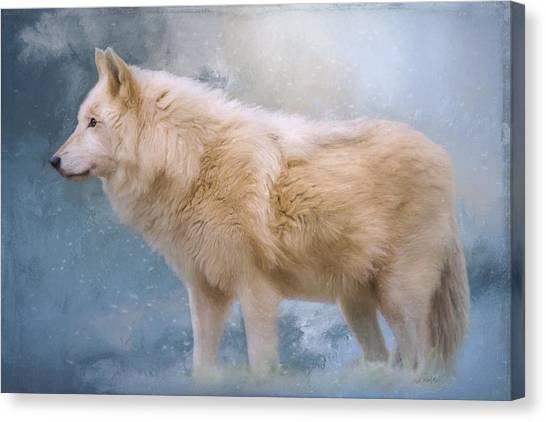 The Spirit Within - Arctic Wolf Art Canvas Print