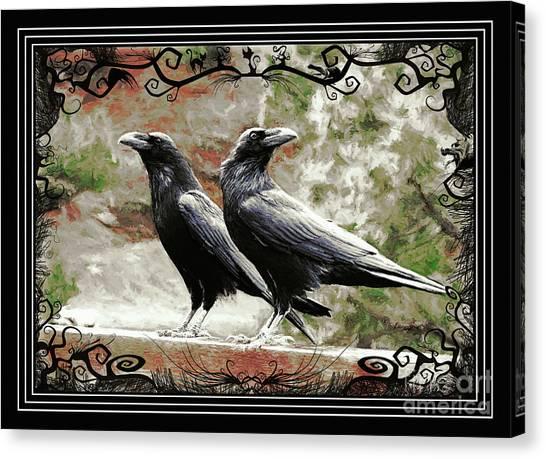 The Spooky Ravens Canvas Print