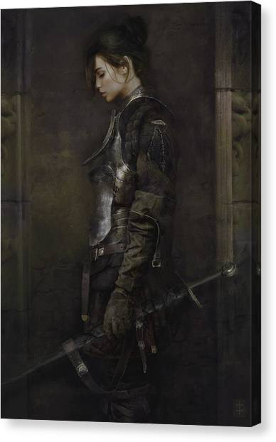 Warrioress Canvas Print - The Squire by Eve Ventrue
