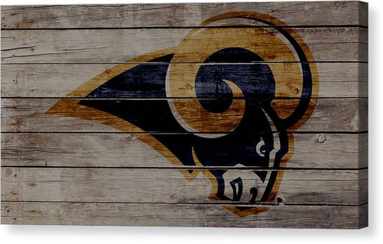 Los Angeles Chargers Canvas Print - The St Louis Rams 2w by Brian Reaves