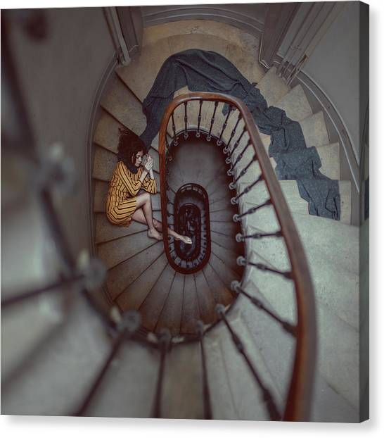 The Stair Romance Canvas Print by Anka Zhuravleva