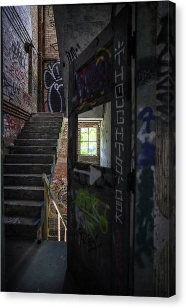 The Stairs Beyond The Door Canvas Print