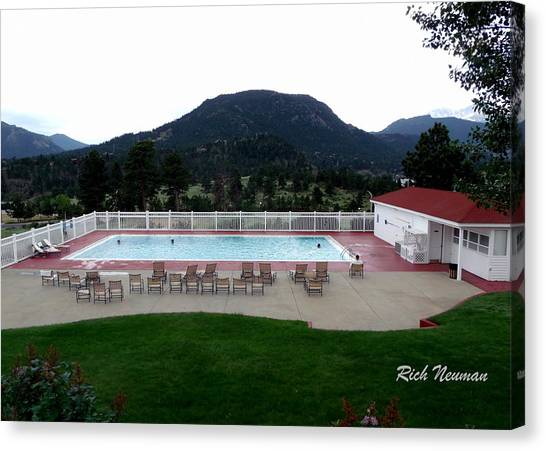 The Stanley Hotel Pool Canvas Print