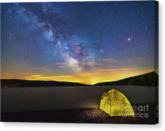 Stellar Camp Canvas Print