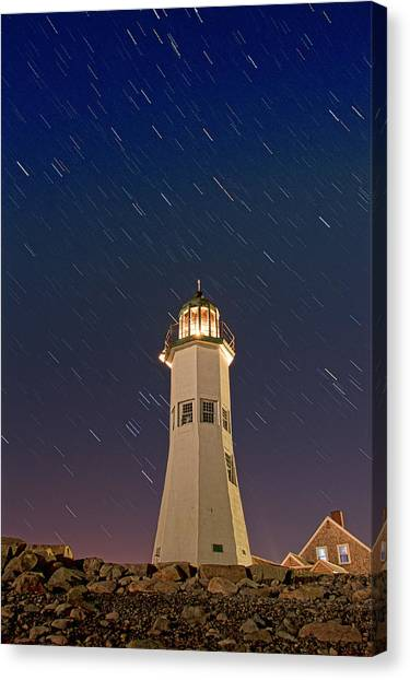 The Star Of Old Scituate Light Canvas Print