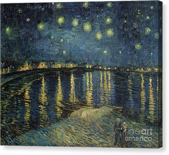 Night Canvas Print - The Starry Night by Vincent Van Gogh