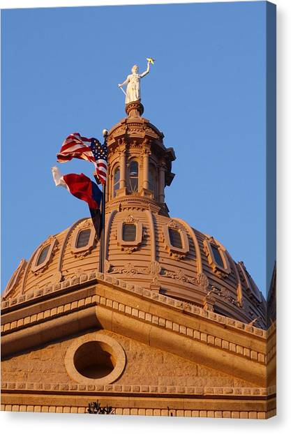 The State Of Texas Capital II Canvas Print