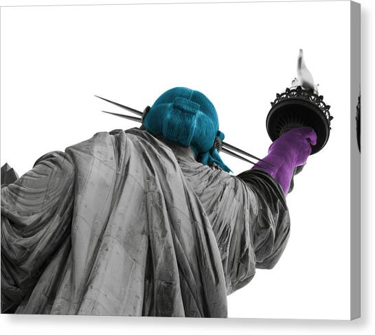 Statue Of Liberty Canvas Print - The Statue Nyc by Marc Pons