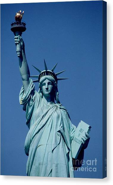 New York Canvas Print - The Statue Of Liberty by American School