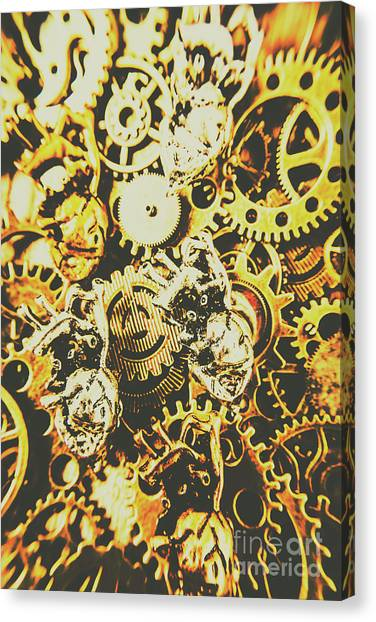 Metal Canvas Print - The Steampunk Heart Design by Jorgo Photography - Wall Art Gallery