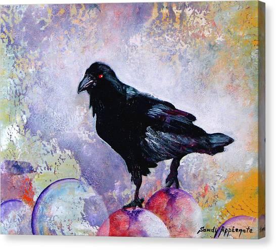 The Stillness Gave No Token Canvas Print by Sandy Applegate