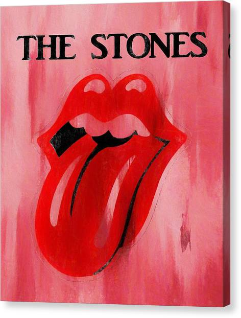 Mick Jagger And Keith Richards Canvas Print - The Stones Poster by Dan Sproul