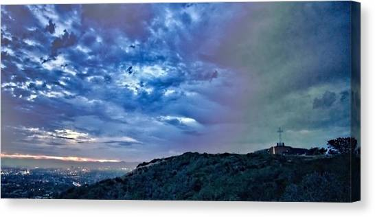 Canvas Print featuring the photograph The Storm And The Light by Jeremy McKay