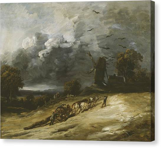 Rainclouds Canvas Print - The Storm by Georges Michel