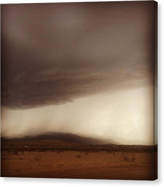 Rain Canvas Print - The Storm Is Coming Down Crazy Here In by Alex Snay