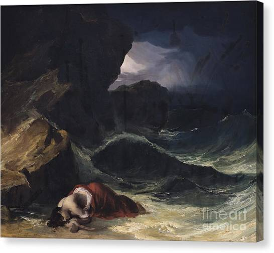 Unconscious Canvas Print - The Storm Or The Shipwreck by Theodore Gericault