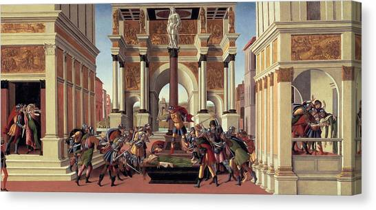 Botticelli Canvas Print - The Story Of Lucretia by Sandro Botticelli
