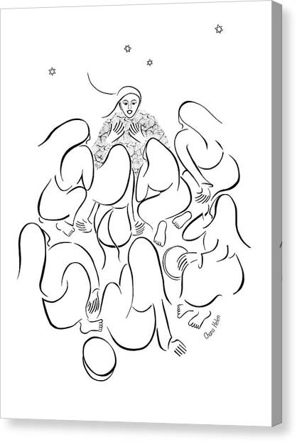 The Story Teller Canvas Print by Chana Helen Rosenberg