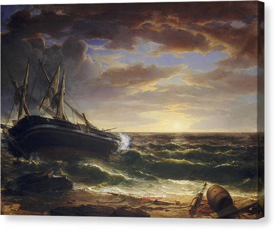 The Stranded Ship Canvas Print