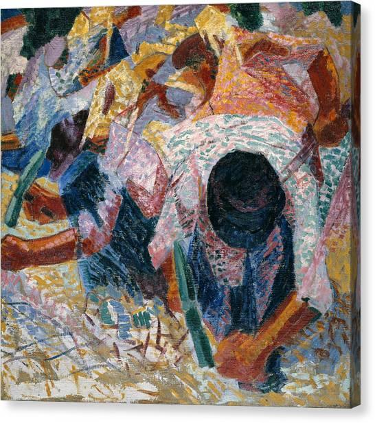 Pavers Canvas Print - The Street Pavers by Umberto Boccioni