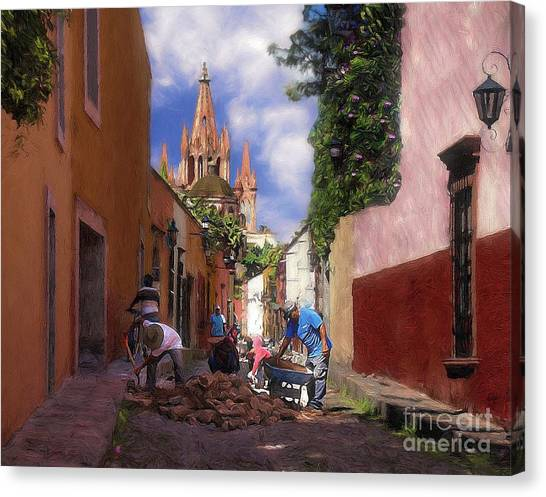 The Street Workers Canvas Print