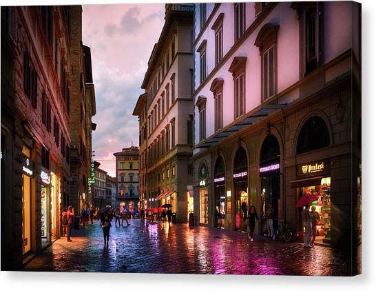 The Streets Of Florence Canvas Print