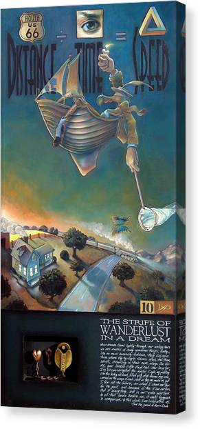 Deltas Canvas Print - The Strife Of Wanderlust In A Dream by Patrick Anthony Pierson