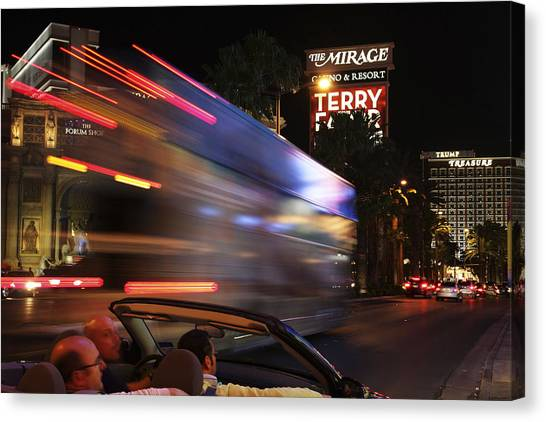 The Strip At Night 4 Canvas Print by Don MacCarthy