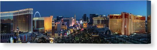 Mirages Canvas Print - The Strip Las Vegas Dusk by Steve Gadomski