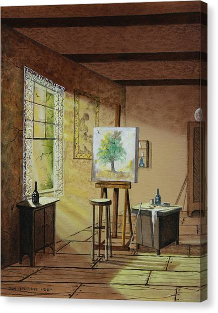 The Studio Canvas Print by Don Griffiths