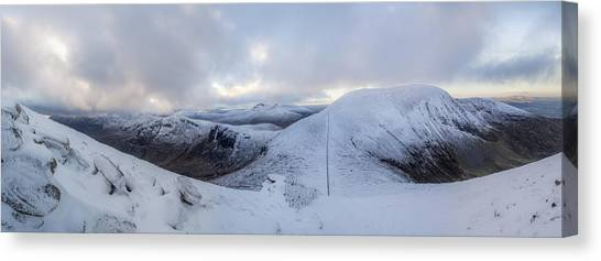 The Summit And Down The Wall Canvas Print
