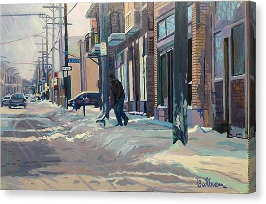 Canvas Print - The Sun And The Snow by David Buttram