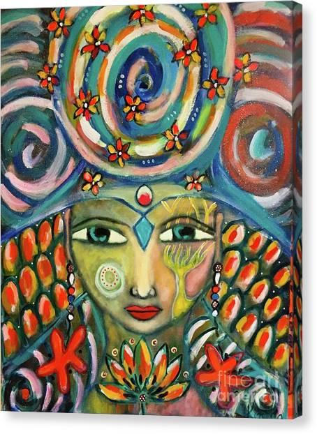The Sun Goddess  Canvas Print