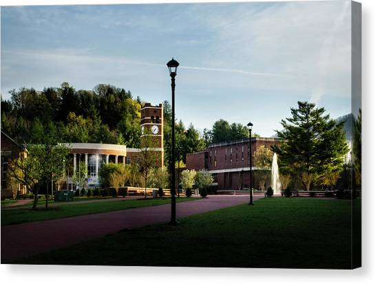 The Sun Rises On Western Carolina University Canvas Print