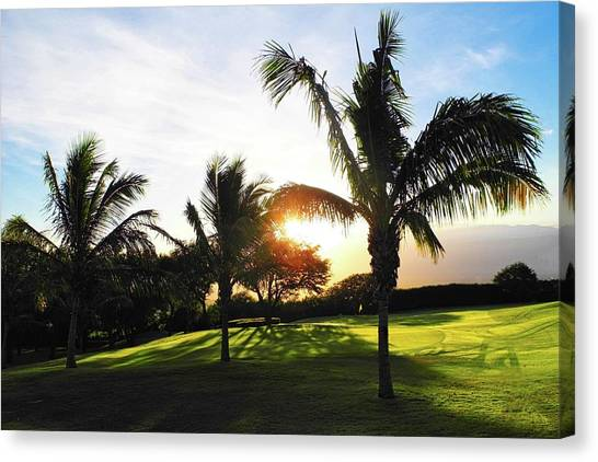 The Sun Rising Behind Haleakala Canvas Print