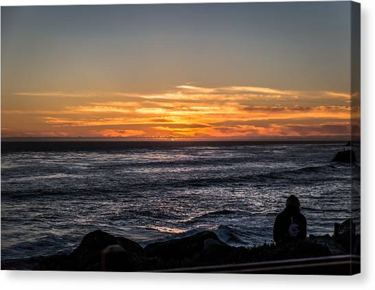 The Sun Says Goodbye Canvas Print