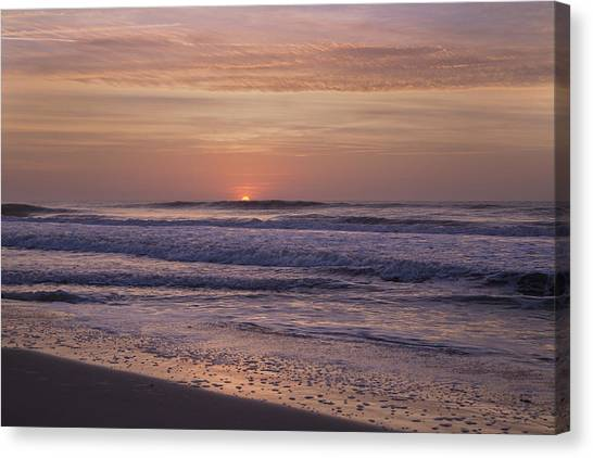 Ocean Sunrises Canvas Print - The Sun Will Always Rise  by Betsy Knapp
