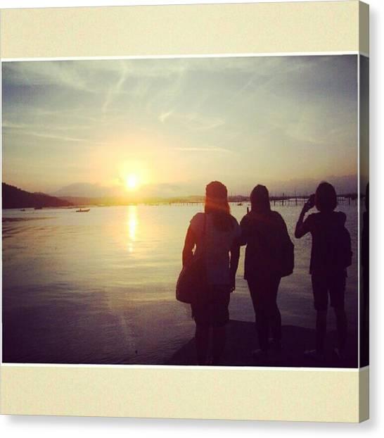 Lake Sunrises Canvas Print - The Sunset At 6am. 😁😁 - by Jill Manalo