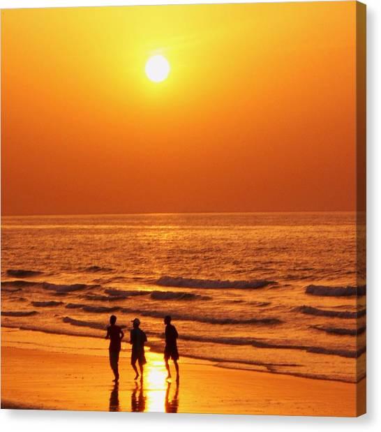 The Sunset Run Canvas Print by Sunaina Serna Ahluwalia