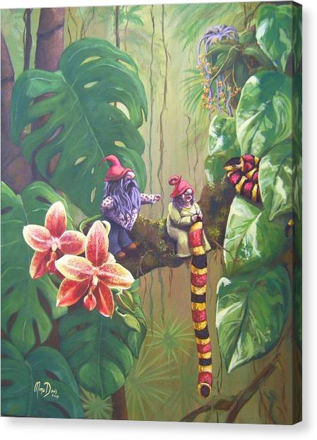 Coral Snakes Canvas Print - The Surprise by Mona Davis
