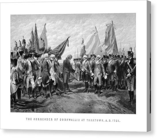 George Washington Canvas Print - The Surrender Of Cornwallis At Yorktown by War Is Hell Store
