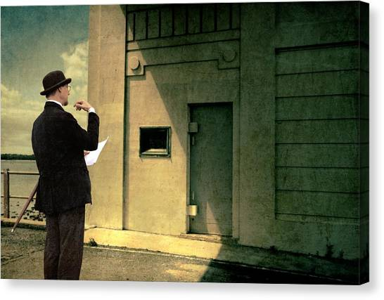 Art Deco Canvas Print - The Surveyor by Mel Brackstone