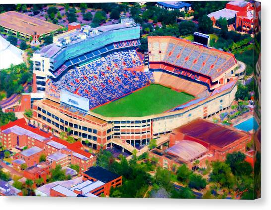 University Of Florida Canvas Print - The Swamp by Angel Pachkowski