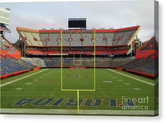 University Of Florida Canvas Print - The Swamp by D Hackett