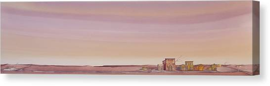 Canvas Print featuring the painting The Sweetest Little Town On The High Plains by Scott Kirby