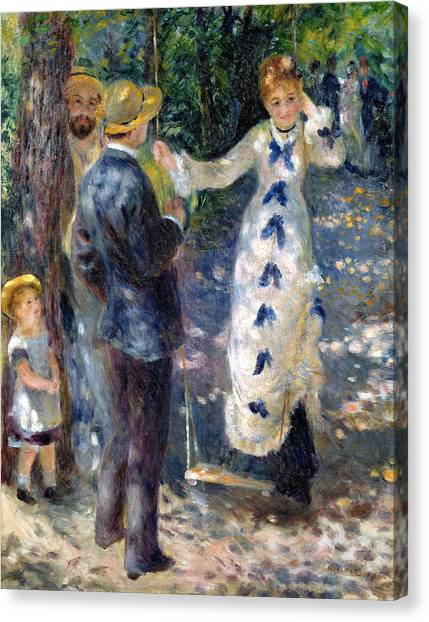 1876 Canvas Print - The Swing by Pierre Auguste Renoir
