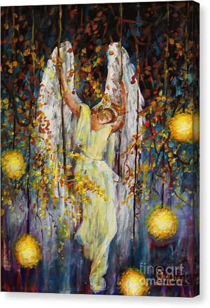 The Swinging Angel Canvas Print